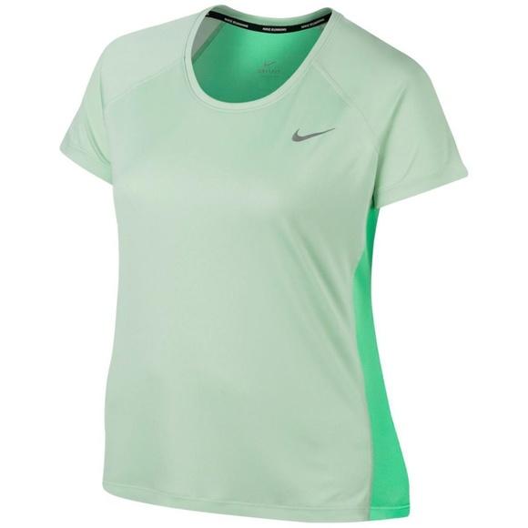a7248662f5b5b Nike Tops | Nwt Miler Shirt Top Plus 1x Green Dri Fit | Poshmark